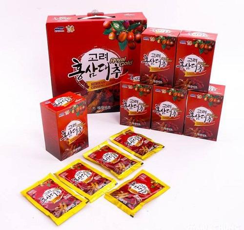 Một số những thông tin về nước hồng sâm táo đỏ Royal Gold Hàn Quốc