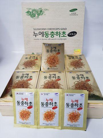 Đông Trùng Hạ Thảo Hộp Gỗ Trắng Kangwa Hàn Quốc cao cấp